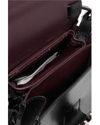 MM6 by Maison Martin Margiela - Black Small Leather Shoulder Bag - Lyst