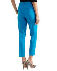 Michael Kors - Blue Samantha Stretch-wool Slim-leg Pants - Lyst