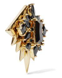 Noir Jewelry - Metallic Gold-tone Cubic Zirconia Earrings - Lyst