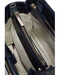 Victoria Beckham - Blue Croc-effect Leather Shoulder Bag - Lyst