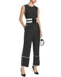Diane von Furstenberg - Black Polka-dot Silk-crepe Jumpsuit - Lyst