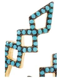 Noir Jewelry - Multicolor Mineral Springs Gold-plated Turquoise Ring - Lyst