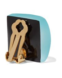 Alexis Bittar - Multicolor Lucite And Enamel Clip Earrings - Lyst