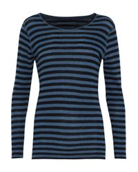 Majestic Filatures - Blue Striped Cashmere Sweater - Lyst