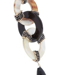 Rosantica - White Martini Gold-tone, Resin And Bead Earrings - Lyst