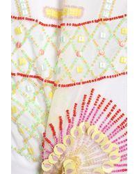 Antik Batik - White Bead And Sequin-embellished Georgette Mini Skirt - Lyst