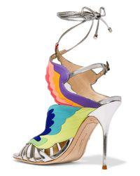 Sophia Webster - 100mm Firebird Metallic Leather Sandals - Lyst