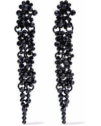 Kenneth Jay Lane - Black Crystal Enamel Earrings - Lyst