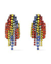 Elizabeth Cole - Red Gunmetal-tone Crystal Earrings - Lyst