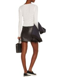 T By Alexander Wang - White Cropped Cotton-jersey Top - Lyst