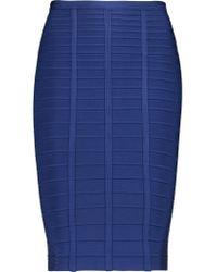 Hervé Léger | Blue Bandage Skirt | Lyst