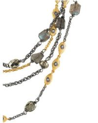 Alexis Bittar - Metallic Pyrite & Labradorite Multistrand Necklace Gold - Lyst