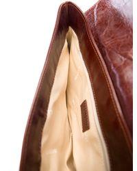 Lanvin - Metallic Patent Leather Heroine Bag Cognac - Lyst
