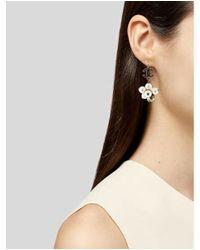 Chanel - Metallic Faux Pearl & Crystal Cc Drop Earrings Gold - Lyst