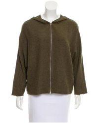 Raquel Allegra - Metallic Dolman Sleeve Hooded Sweatshirt W/ Tags Olive - Lyst