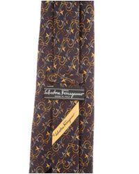 Ferragamo - Yellow Silk Patterned Tie for Men - Lyst