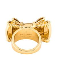 Kate Spade - Metallic Bow-tie Ring Gold - Lyst