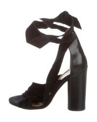Isabel Marant - Black Wrap-around Suede Sandals - Lyst