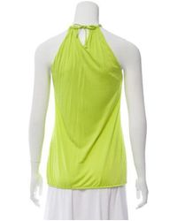 Roberto Cavalli - Green Sleeveless Embellished Top Lime - Lyst