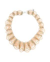 Nakamol - Metallic Crystal Bead Multistrand Collar Necklace Silver - Lyst