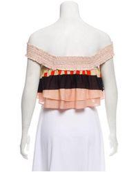 Apiece Apart - Pink Off-the-shoulder Crop Top - Lyst