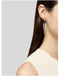 Alexis Bittar - Metallic Pyramid Capped Lucite Spear Drop Earrings Gold - Lyst