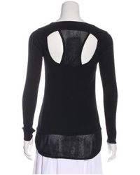 Sandro - Black Knit Long Sleeve Top - Lyst