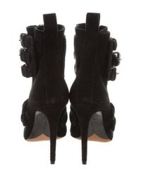 Tabitha Simmons - Black Pointed-toe Suede Boots - Lyst