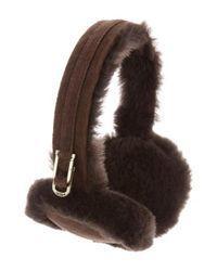 Ugg - Brown Suede Shearling Headband W/ Tags - Lyst