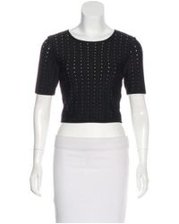 Alice + Olivia - Black Crop Top Skirt Set - Lyst