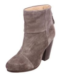 Rag & Bone - Gray Newbury Suede Ankle Boots - Lyst