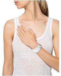 Alexis Bittar - Metallic Faceted Lucite Bracelet Silver - Lyst