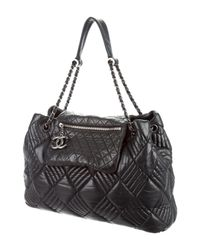 Chanel - Metallic In And Out Jumbo Tote Black - Lyst