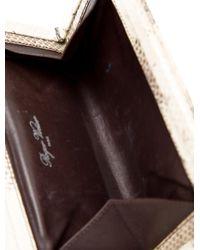 Roger Vivier | Metallic Belle Snakeskin Clutch Multicolor | Lyst