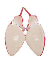 Dior - Multicolor Patent Leather Colorblock Sandals W/ Tags Orange - Lyst