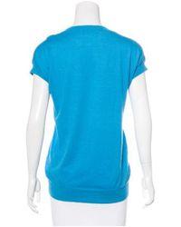 Thakoon - Blue Knit Short Sleeve Top - Lyst