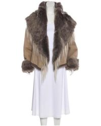 Donna Karan - Gray Suede Shearling-lined Jacket W/ Tags Grey - Lyst