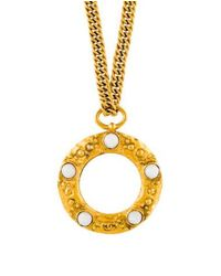 Chanel - Metallic Magnifying Loupe Pendant Necklace Gold - Lyst
