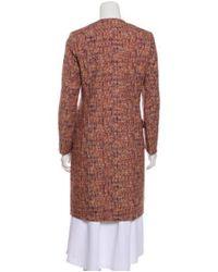 Etro - Multicolor Patterned Knee-length Coat Orange - Lyst