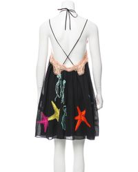 Emilio Pucci - Black 2016 Embroidered Dress - Lyst