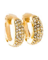 Dior - Metallic Pavé Crystal Clip-on Earrings Gold - Lyst