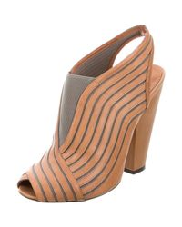 Givenchy - Gray Peep-toe Slingback Booties Cognac - Lyst