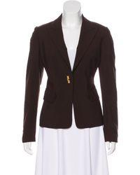 MICHAEL Michael Kors - Brown Michael Kors Structured Wool Blazer - Lyst