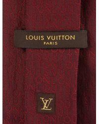 Louis Vuitton - Red Silk Jacquard Logo Tie for Men - Lyst