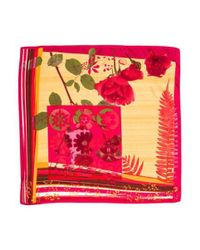 Christian Lacroix - Pink Silk Printed Scarf Magenta - Lyst