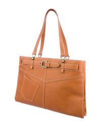 Dior - Natural Patch Pocket Tote Brass - Lyst