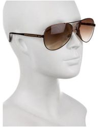 Judith Leiber - Metallic Embellished Aviator Sunglasses - Lyst