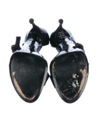 Roger Vivier - Black Patent Leather Half D'orsay Sandals - Lyst