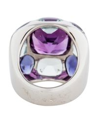 Chanel - Metallic 18k Amethyst, Aquamarine & Iolite Baroque Ring White - Lyst