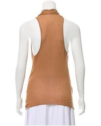 Helmut Lang - Brown Sleeveless Top - Lyst